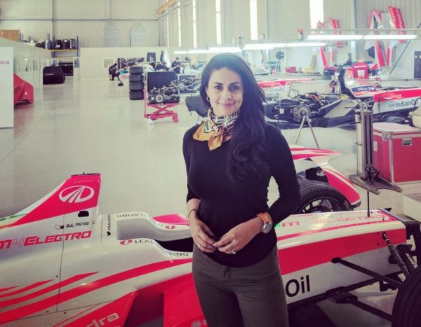 Gul Panag at the Mahindra development facility in Barcelona