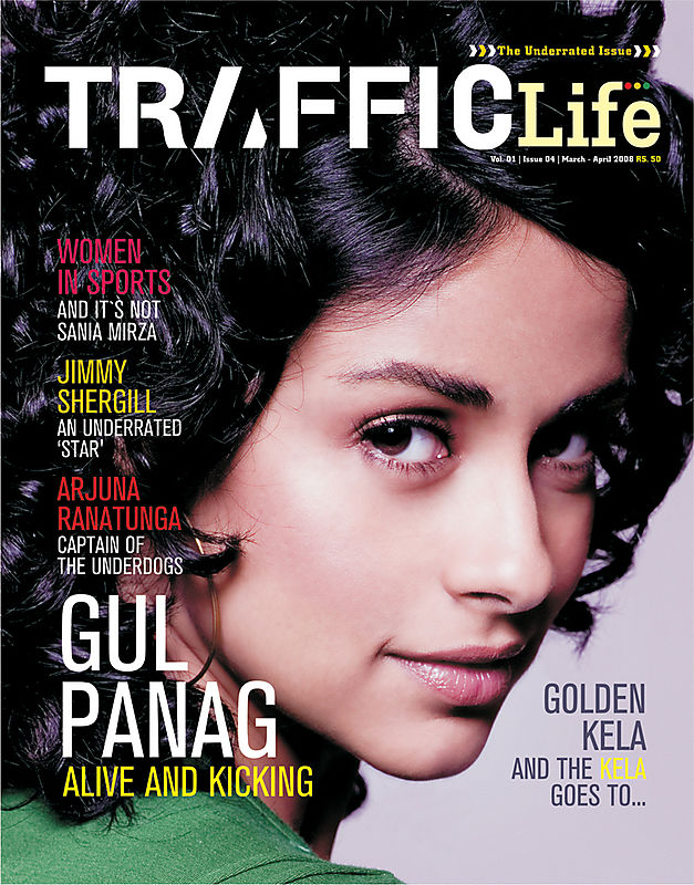 Gul Panag featuring in the cover of Traffic life